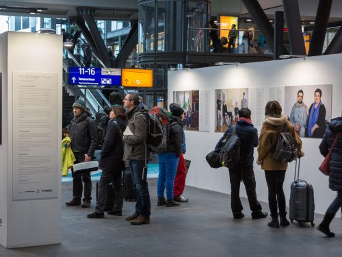 Exhibition of No Stranger Place at Berlin Hauptbahnhof