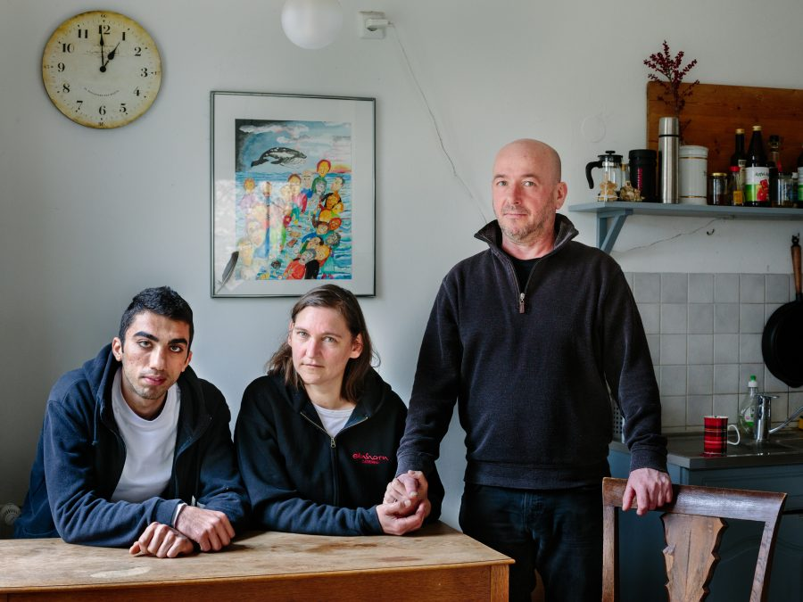Germany. Newruz, a refugee from Syria lives with Claudia and Tobias in Berlin.