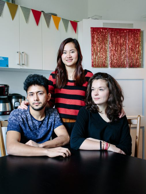 Germany. Nga (23) and Ruth (20) live in a Berlin flatshare with Bashir (19), a refugee from Afghanistan.