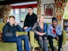 United Kingdom. Ingrid Van Loo Plowman and her son Ross host three refugees in their home in Epsom: Isak, 18, from Ethiopia, 19-year-old Abdul, from Syria and a 31-year-old engineer from the Middle East who declined to be identified for security reasons. Photo: Aubrey Wade / UNHCR